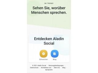 Aladin Business und private Social Media